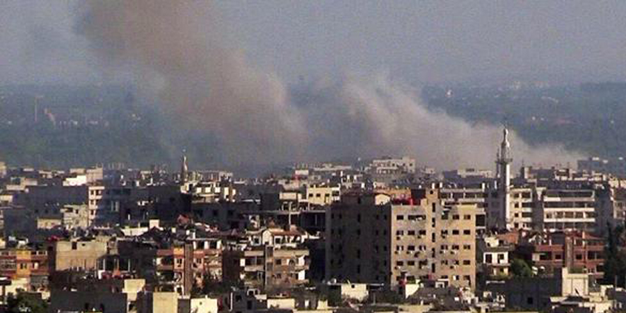 Burden of Damascus/Russian Embassy Takes Fire