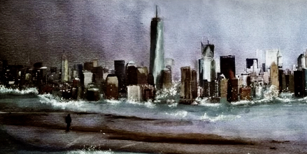 Young Painter Reveals Prophetic Images of New York Disaster