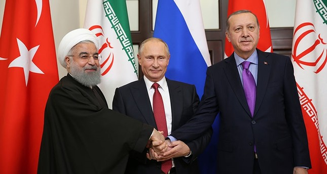 Putin Hosts Turkey & Iran for Peace in Syria