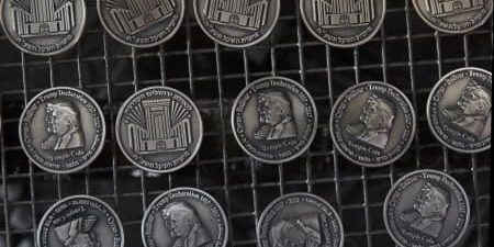 Temple Coin with Trump Likeness in High Demand
