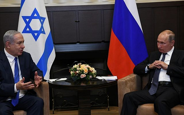 Netanyahu and Putin Meet in Sochi, Russia