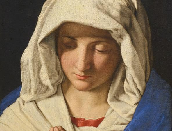 Gabriel Covers Mary in Grace