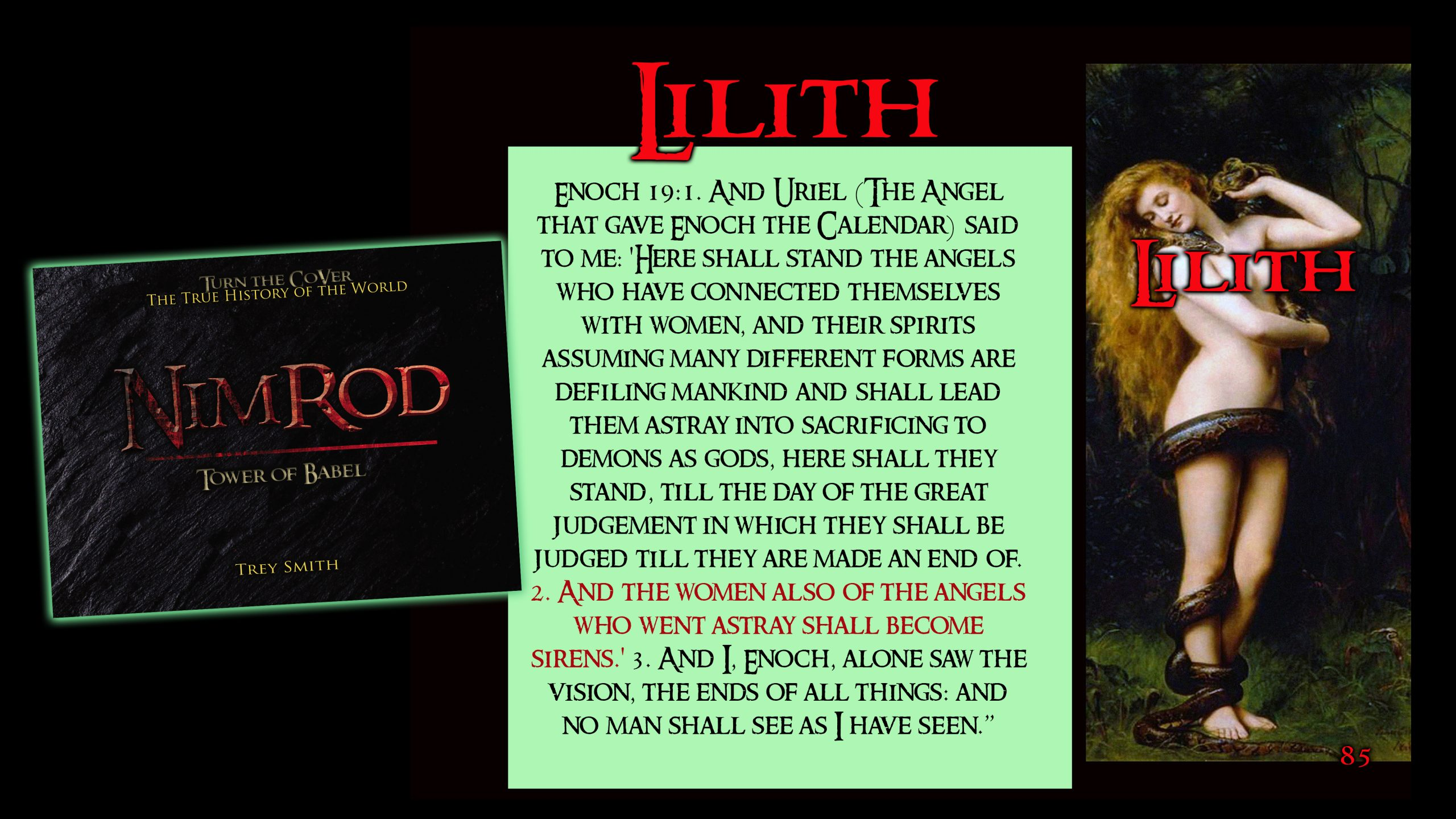 """Lilith: Character from Jewish Mystic Teachings meaning """"Screech Owl"""""""
